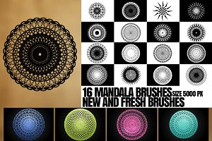 16 MANDALA BRUSHES