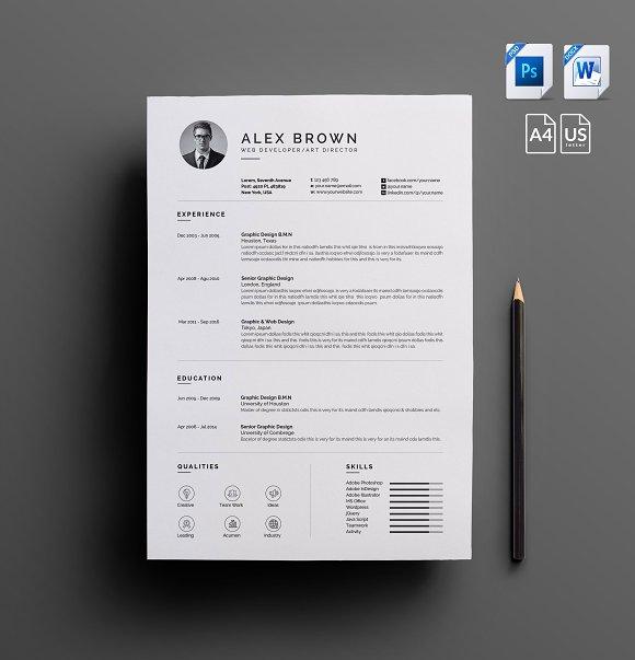 cv resume templates creative market
