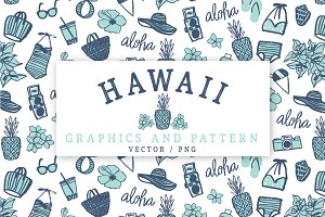 Hawaiian Graphics Set