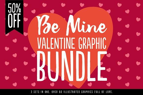 Be Mine Bundle - 50% OFF - Illustrations