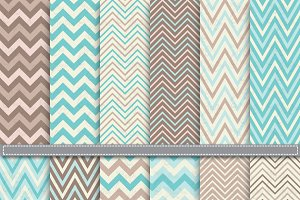 Retro Chevron Digital Paper