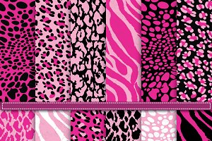 Pink Animal Skin Digital paper