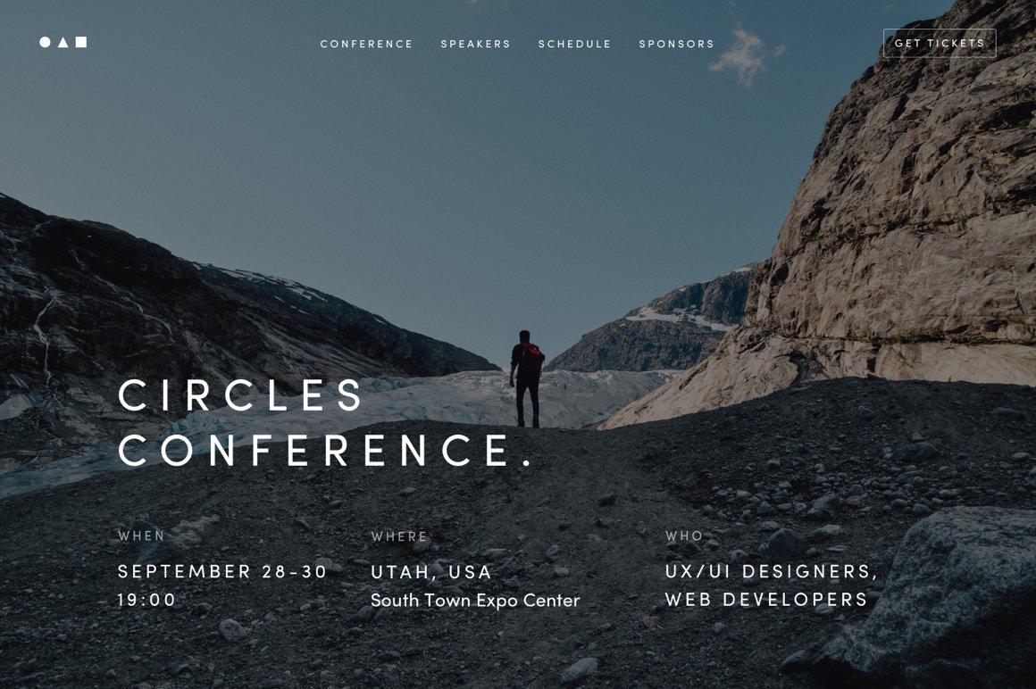 Event Website Template Htmlcss Themes Creative Market