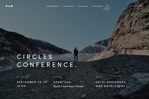 Conference, Event Website Template