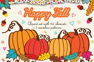 Happy Fall Clipart Graphics Autumn