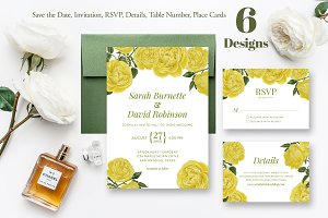 Yellow Roses Wedding Collection