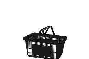 shopping basket. icon. vector