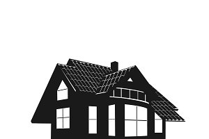icon of house. vector illustration