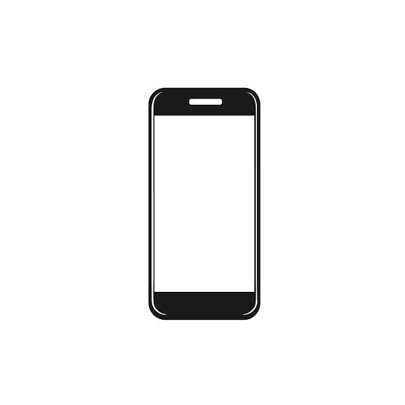 icon of cellphone. vector ~ Illustrations ~ Creative Market
