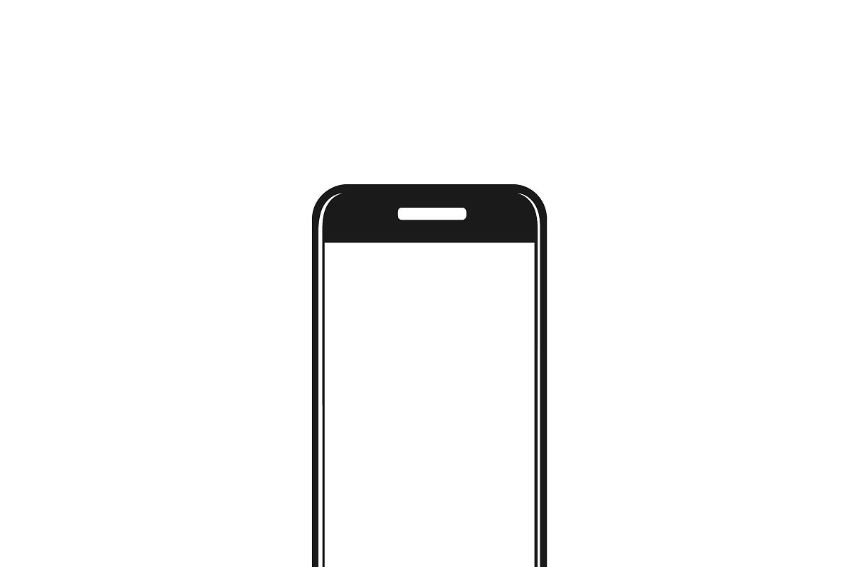Cell Phone Icon >> Icon Of Cellphone Vector Illustrations Creative Market