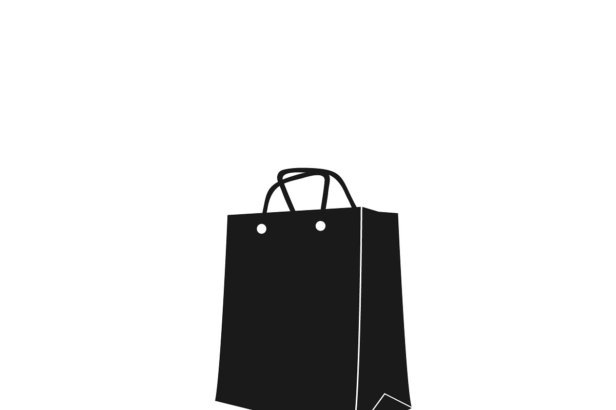 d9073bc4a4 icon of shopping bag. vector ~ Illustrations ~ Creative Market