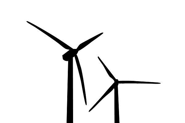 icon of wind turbine. vector