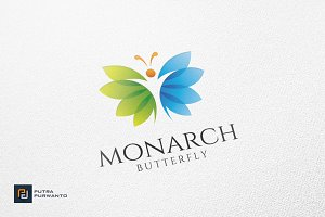 Monarch / Butterfly - Logo Template