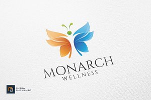 Monarch Wellness - Logo Template