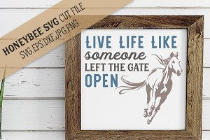 Live Life Like The Gate is Open