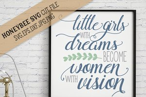 Little Girls With Big Dream cut file