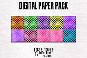 10 Digital Papers (Hearts)