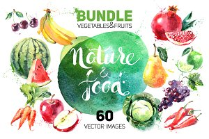 Watercolor Vector Bundle