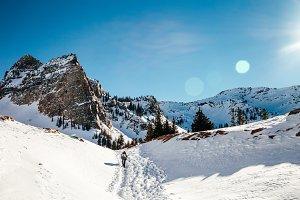 Women Finishing High Altitude Hike
