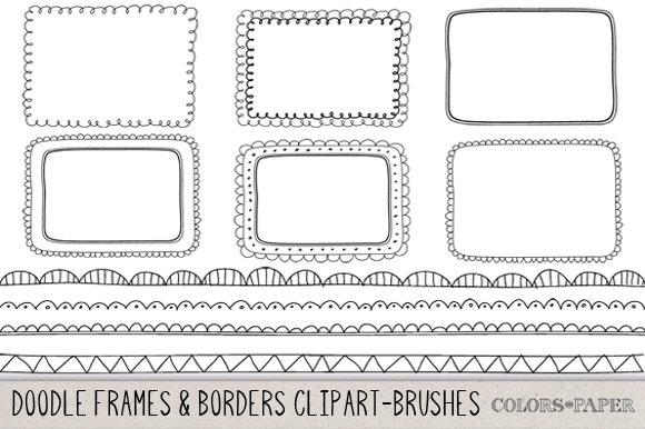 Hand Drawn Frames & Borders Clipart ~ Illustrations ...