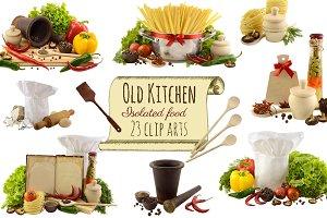 Old Kitchen clip arts