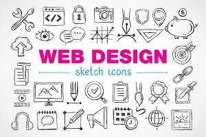 Web design sketch icons