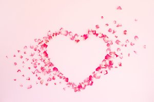 Heart on pink background