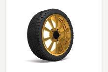Car gold wheel 3d