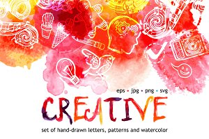 Watercolor Creative Set