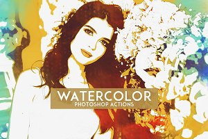 Watercolor Photoshop Actions