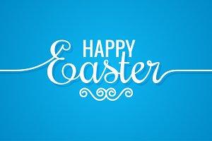 Easter Line Vintage Lettering.