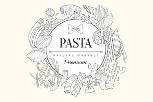 Pasta Collection Vintage Sketch