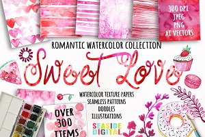 Sweet Love Watercolor Collection