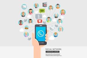 Social Network Conceptual.