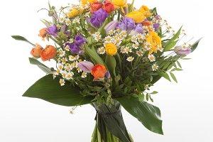 Ranunculus and freesia bouquet