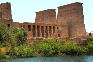 Temple complex in the Philae (Egypt)