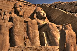 Statues at Abu Simbel Temple (Egypt)