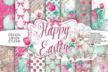 Watercolor Happy Easter DP pack 2