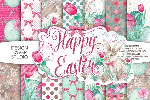 Watercolor Happy Easter DP pack 2