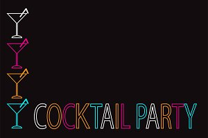 Cocktail party background neon 2