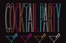 Cocktail party background 4