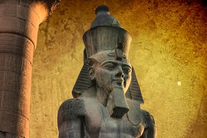Ramses II in Luxor Temple (Egypt)