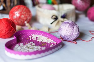 Decorations balls yarn