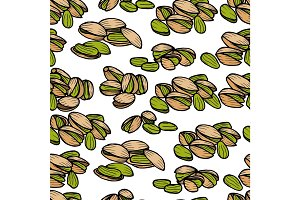 Pistachios pattern including seamless