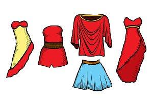 Fashion sketch set