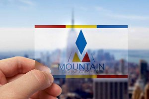 Mountain M Letter Logo