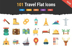 101 Travel Flat Icons