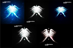 Angel vector futuristic background