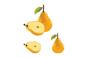 Pear Fruit Realistic Vector