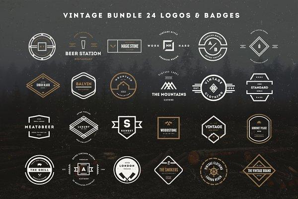 MASSIVE BUNDLE 576 Vintage Logos ~ Logo Templates ~ Creative Market